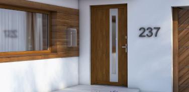 Klamka do drzwi zewnętrznych Drutex Kołobrzeg