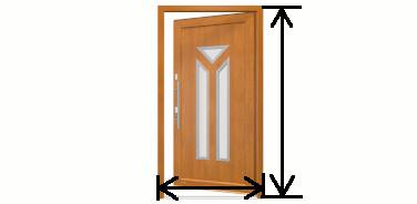 Wymiary drzwi wewnętrznych Drutex Białogard
